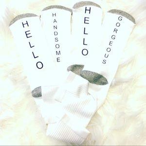 Couple Socks Hello Handsome Hello Gorgeous